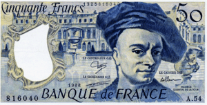 The franc original Official Currency Of France
