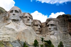 us presidents carved into rock face