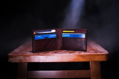 debit and credit cards in wallet