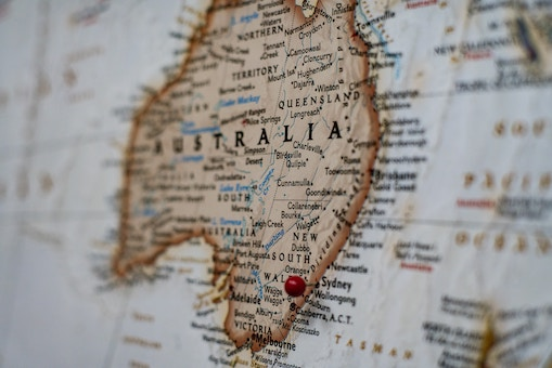 country of australia on map