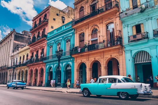 typical street in cuba